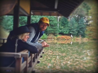 Teresa with son Aaron in beautiful Brooklyn Botanical Gardens