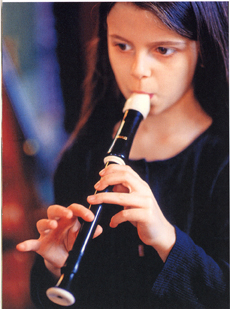 Playing recorder