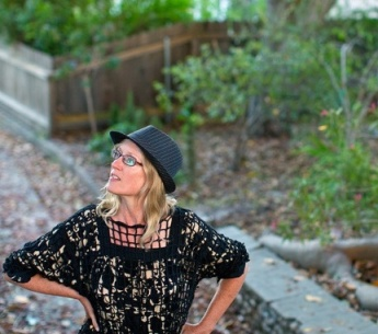 Me, amazed by a venerable tree in an Old Pasadena neighborhood, taken by John Livzey