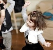 Young children dancing